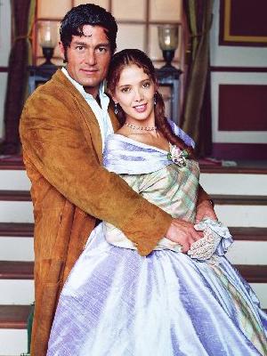 Adela Noriega y Fernando Colunga actores de Amor Real