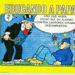 educando a papa caricatura